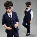 Boys three piece suit for boys 4 12 year boys brand suits for weddings autumn Fashion