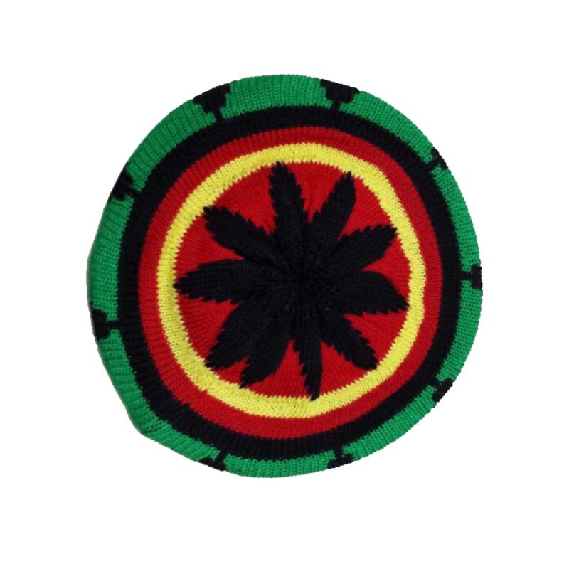 Wholesales Fashion Crochet Knitted Rasta Reggae Beanie Hat Tam Beret Jamaican Cap Berlin Machine Knitting Style(China (Mainland))