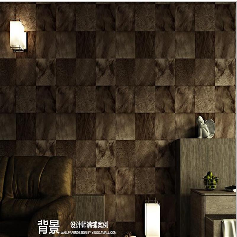 Room bar living room fashion modern personality sofa TV background waterproof deep embossed simulation horse fur stripe pvc dark(China (Mainland))