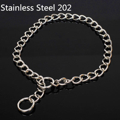 Top Quality 202 Stainless Steel Metal Pet Dog Training Choke Collar Slip Snake Chain(China (Mainland))
