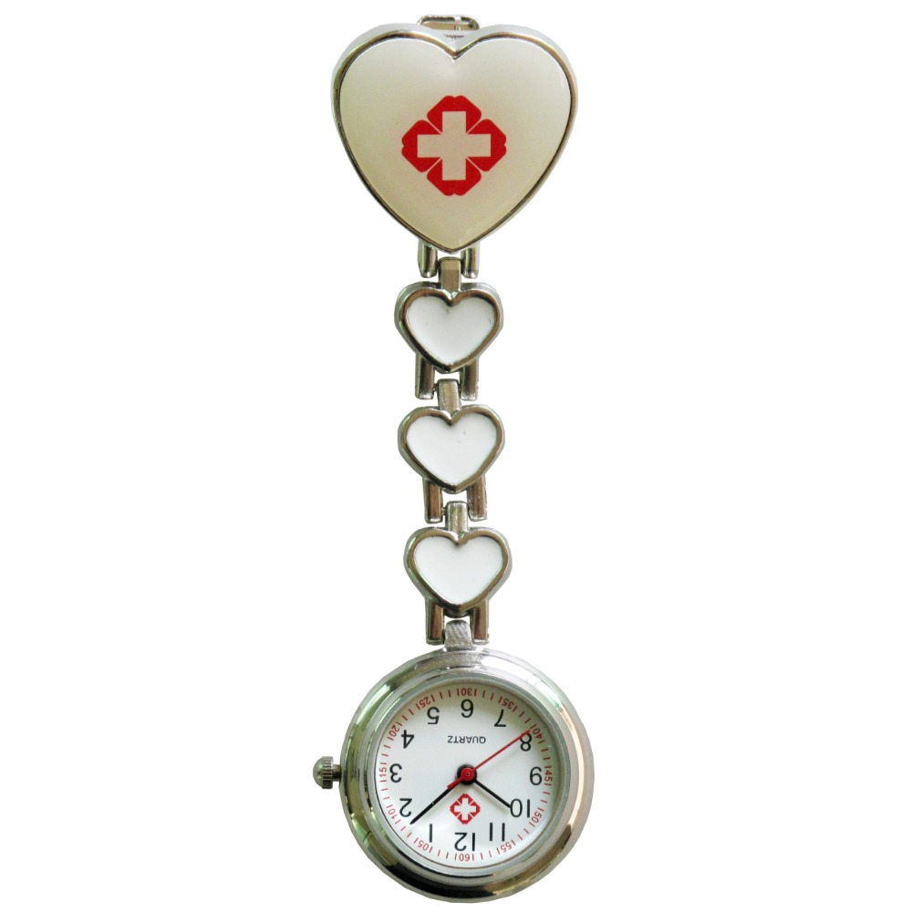 50pcs/lot 4 heart smile face nurse watches Plum blossom watches pocket watches four heart steel watches DHL free shipping<br><br>Aliexpress