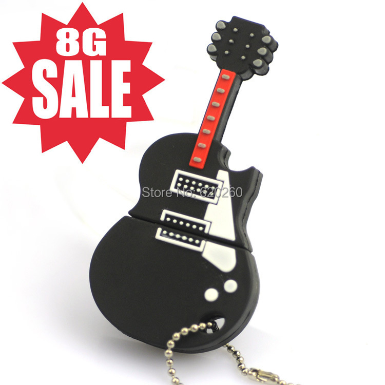 Wholesale Hot sale-Free shipping Guitar USB 8GB 16GB 32GB Flash Memory Stick Pen Drive Disk for Laptop Computer,thumb/drive/gift(China (Mainland))