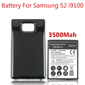3500mah Thicker Bateria For Samsung Galaxy S2 Battery i9100 Bateria Black Color Extended Backup Back Cover
