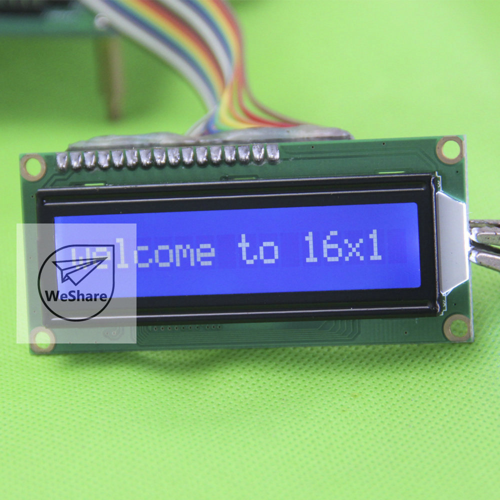 10pcs 1601 16*1 16x1 Character LCD Module LCM Blue White SPLC780D 80*36*11.3CM 5.0V for Arduino(China (Mainland))