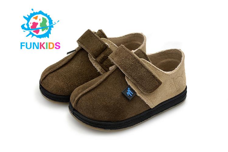 2015 Funkids Spring Autumn Children Non-Slip Kids Shoes Cowhide Flat Boy 12069 - store