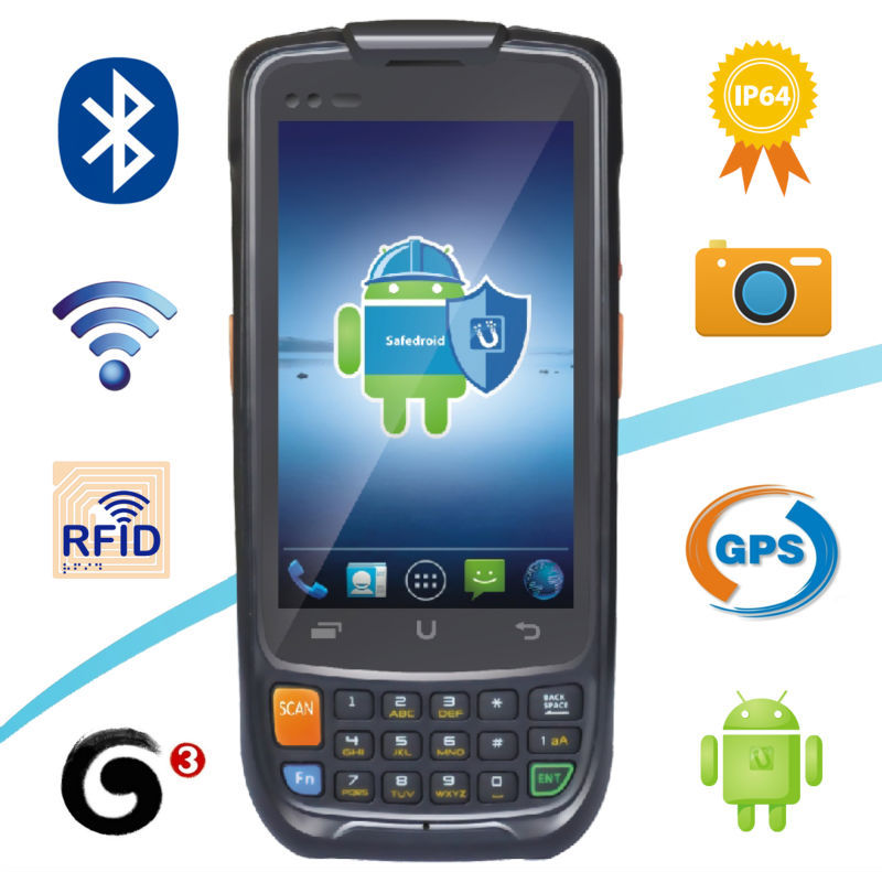 2015 New i6200s Android PDA Handheld Terminal 3G GPRS WIFI GPS Quad Core 1D laser Barcode reader Android handheld phone PDA(China (Mainland))