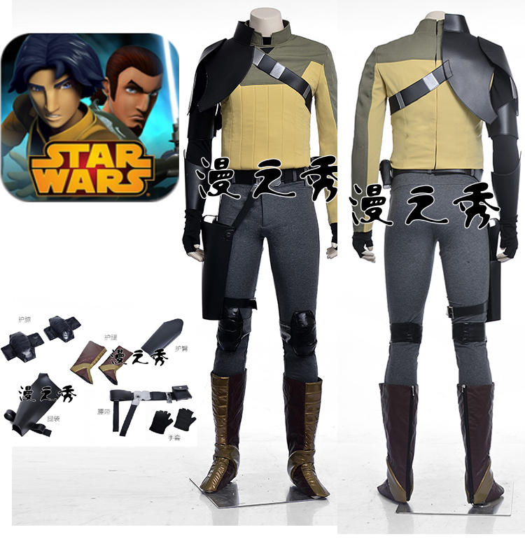 Movie Coser-5 High Quality Custom Made Star Wars Rebels Cosplay Costume Set For Halloween Party Adult Cosplay CostumeОдежда и ак�е��уары<br><br><br>Aliexpress