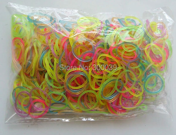 1 lot(6bags) loom band jelly glow+new gitter+TIE DYE+camo+fluorescent+mixed solid color kids 2014 - DIY Fashion Store store