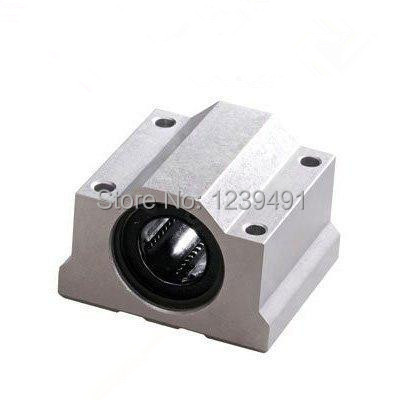 10pcs/lot SC6UU SCS6UU 6mm Linear axis ball bearing block with LM6UU bush, pillow block linear unit for CNC part
