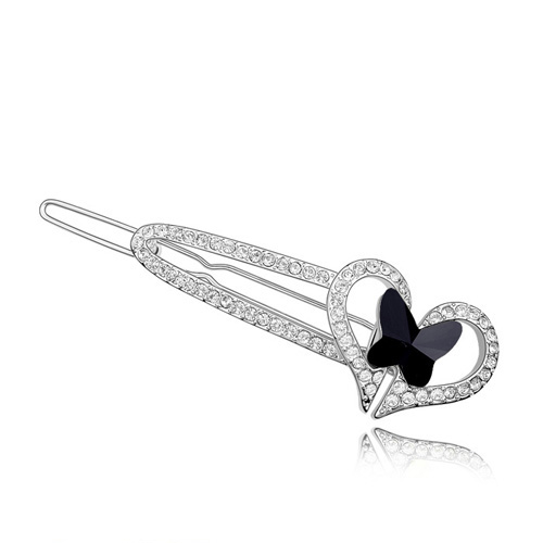 New Arrival Crystal Heart Butterfly Hair Clip Jewelry Crystals from Swarovski Vintage Women Gift Wedding Hair Accessories(China (Mainland))
