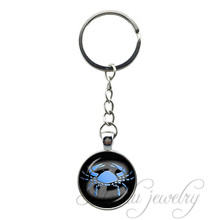 Buy Zodiac Sign Cancer June 22 July 22 Vintage Pendant Key Chain Ring Astrology Key Chains Zodiac Jewelery Keychain Him/Her for $2.98 in AliExpress store