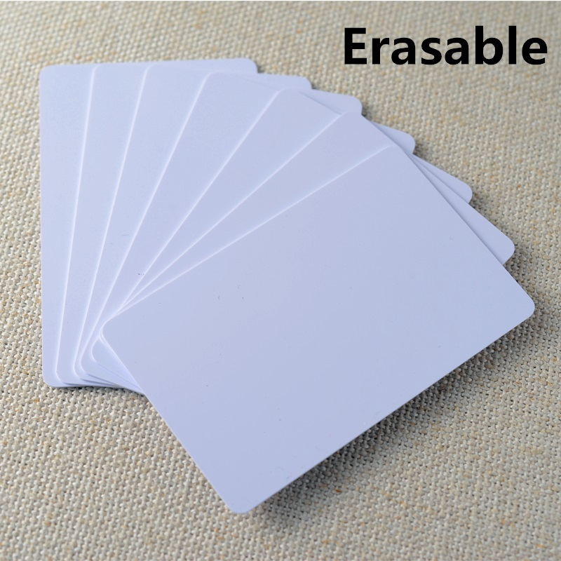 Erasable IC White Card PVC White NFC Smart UID Card Tag S50 RFID Readable Writable 8.5 x 5.4 x 0.1cm Smart RFID M1 Card 13.56MHz(China (Mainland))