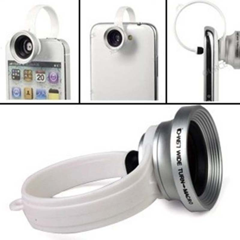 180 degree Detachable Wide Angle + Micro Lens Fisheye Camera +Loops Clip iPhone 4 4s 5 Samsung xiaomi mobile phone - D&H International Co., Ltd. store