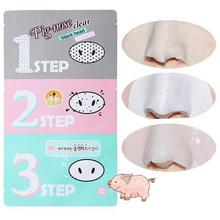 1PC NEW 1pcs Holika Holika Pig Nose Clear Black Head 3 Step Kit Whitening Beauty Cleaning Supplies MK0001