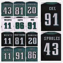 Women Lower Price stitched jerseys, Elite 11 Carson 20 Brian 43 Darren 91 Fletcher 86 Zach jersey Size M-XXXL(China (Mainland))