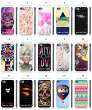 Mobile Phone Case New 1PC Colorful Ballon Monroe Hybrid Design Protective White Hard Case For Ipod Touch 5th Free Shipping