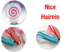 Kawaii Animal Rabbit Hairpin Candy Color Children Girls Surprise 6Pcs Hair Clips Headband Baby Barrette Resin