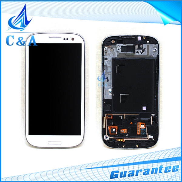 5 pcs DHL/EMS Post tested replacement repair part 4.8 inch screen for Samsung Galaxy S3 i9305 i9300 lcd display with touch frame