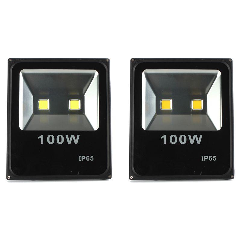 Hot Sale 100W Waterproof IP65 LED Flood Light Outdoor Landscape Spotlights Lamp Pure White Warm White 85-265V(China (Mainland))