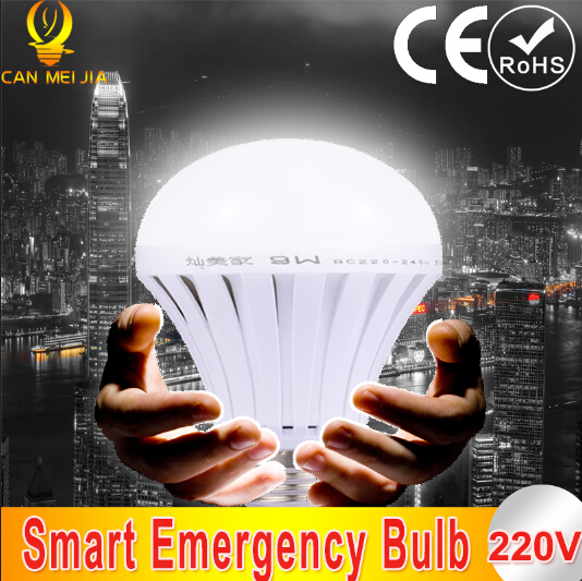 1pcs LED Smart Rechargeable Emergency Bulb Lamp Home Commercial Outdoor lighting E27 5W 7W 9W 12W 220V(China (Mainland))