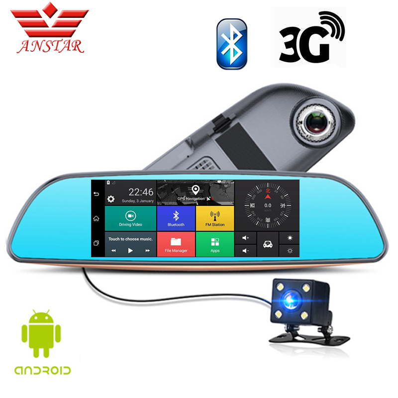 ANSTAR 3G CAR DVR Dual Lens Camera FHD 1080P Dash Cam Video Rear View Mirror Android GPS Navigation Parking Assistance For Cars(China (Mainland))