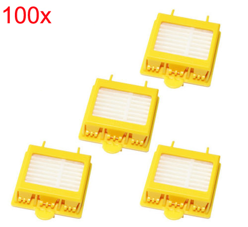 Brand New 100 pcs/lot Yellow Hepa Filter filters for iRobot Roomba 700 Series 760 770 780 Free Shipping Factory Wholesale(China (Mainland))