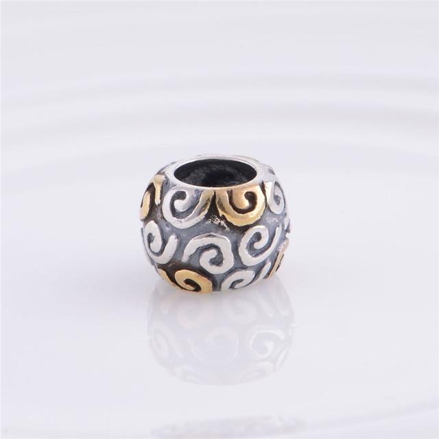 Мода стерлингового серебра 925 шарм скольжения бусины облако позолоченные ювелирные изделия DIY подходит пандора змея цепи шарм браслеты