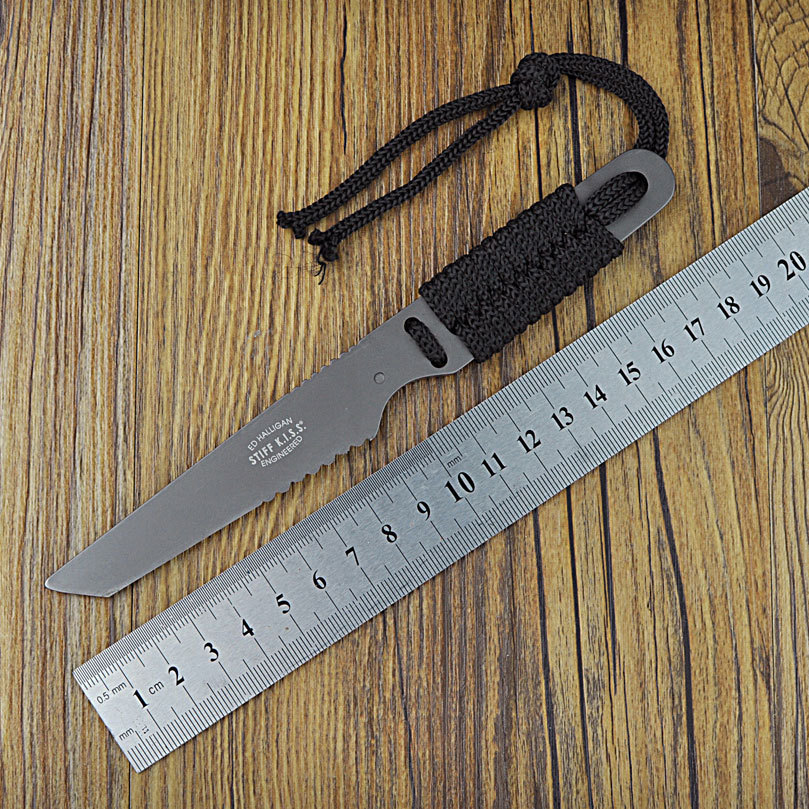 Stainless Steel Knife ! Fixed Blade Straight Knife K Sheath Carried Camping Knives Free Shipping