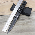 Stainless Steel Folding Knife Tactical Knife Outdoor Rescue Camping Pocket Knives Folding Blade Sanding Black Handle