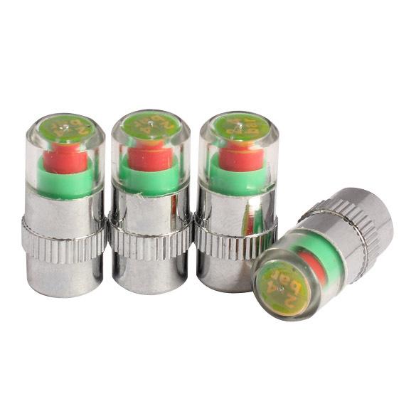 Universal Visiable 4PCS/SET 36 Psi 2.4 Bar Air Warning Alert Tire Valve Pressure Sensor Monitor Light Cap Indicator For Cars(China (Mainland))