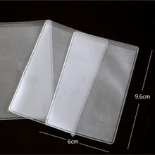 10p Pcs Dustproof Clear Card Holders 9.6x6cm Soft Plastic Credit Card Protectors Bussiness Card Cover ID Holders(China (Mainland))