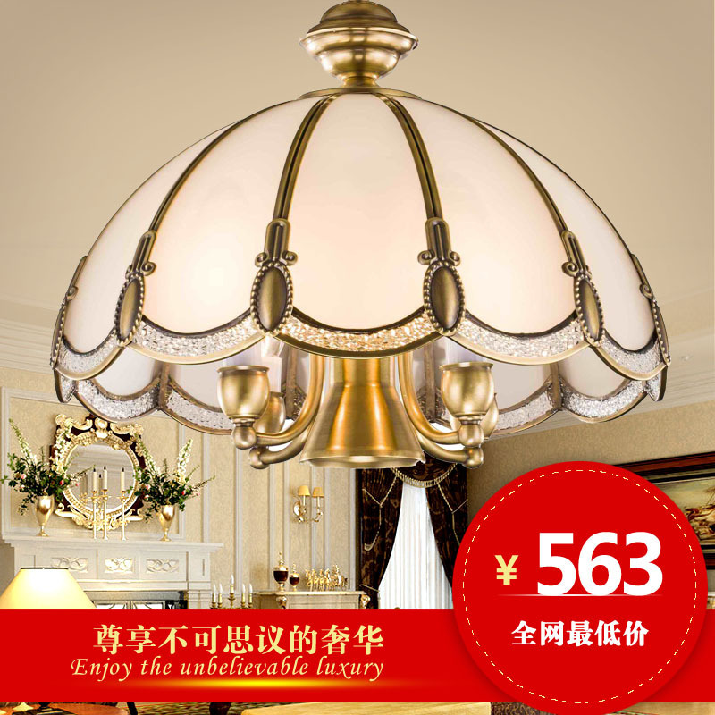 Jane European-style garden restaurant full of copper LED chandelier luxurious atmosphere of American retro luxury villa living r(China (Mainland))