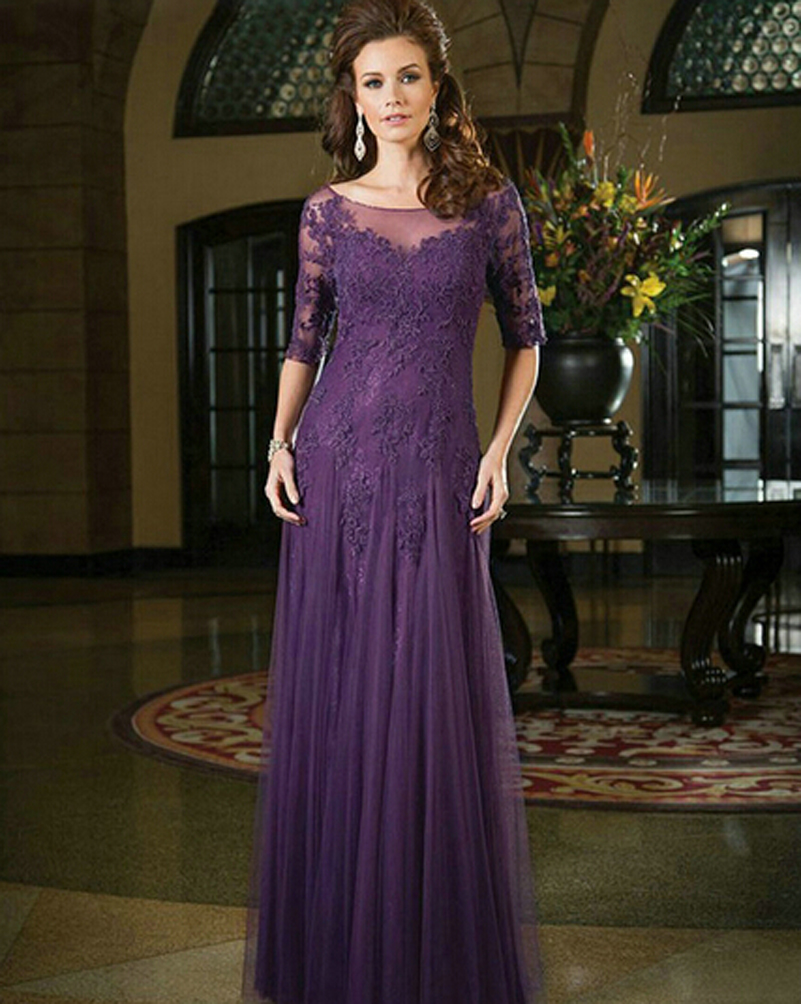 2016 spring fall mother of the bride dress with half