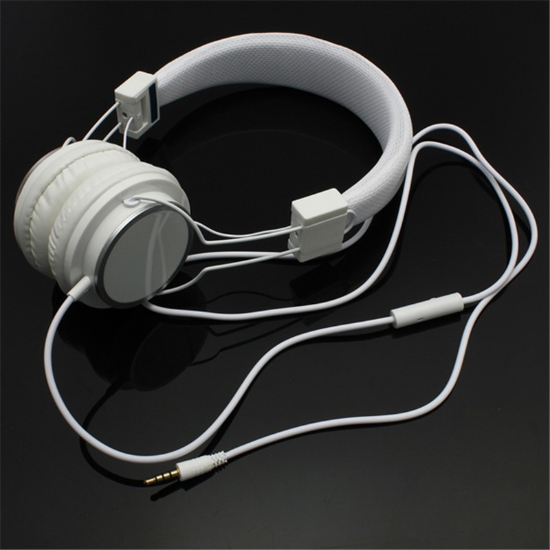 High Quality Adjustable 3.5mm Stereo Earphone Headphone With Mic for iPhone for iPod for MP3 PC Music Earphone Microphones