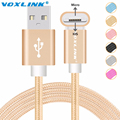 VOXLINK Metal Plug Micro USB Cable For iPhone 6 6s Plus 5s iPadmini Samsung Meizu Xiao