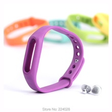 2pcs/lot Colorful Replacement Silicone For Xiaomi Miband 1 1s Bracelet Wrist Strap For Xiaomi Smart Band Watch Band 8 Colors