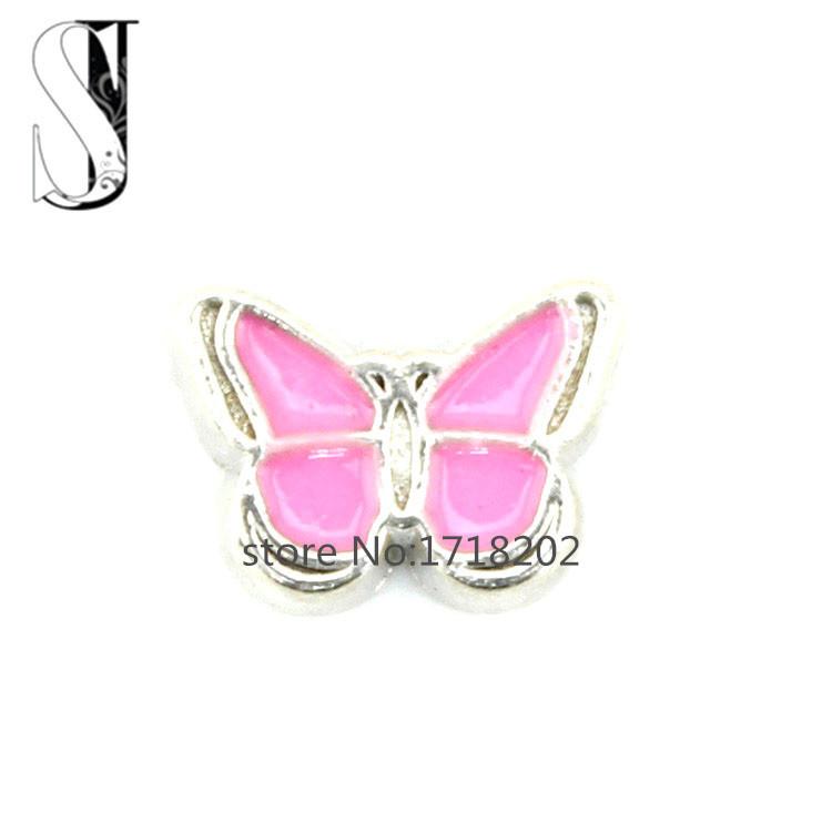 aliexpresscom buy pink butterfly floating charm love