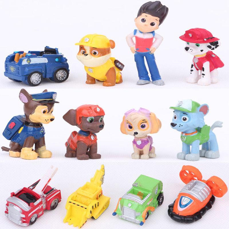 2017 New Toys 12 Pcs/Set dog Patrolled Puppy Dog Toy Childrens Anime Action Figure Toy Figures Patrolled Dog Model Toys(China (Mainland))