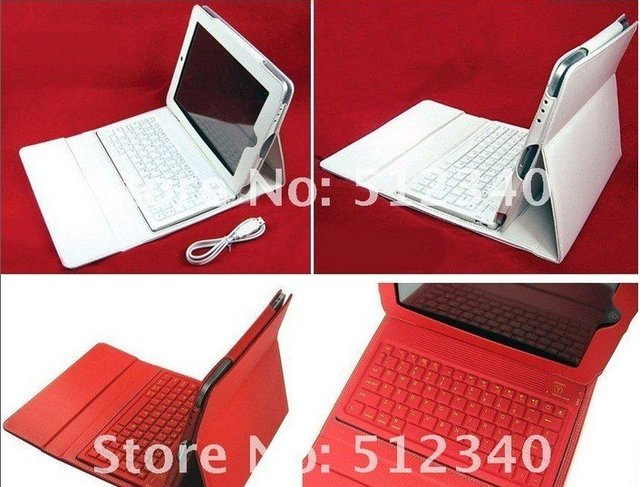 Free-shipping Russian,Turkish,Spanish,Portuguese  Leather Case + wireless Bluetooth Keyboard for iPad 2 iPad2 2nd stand bag