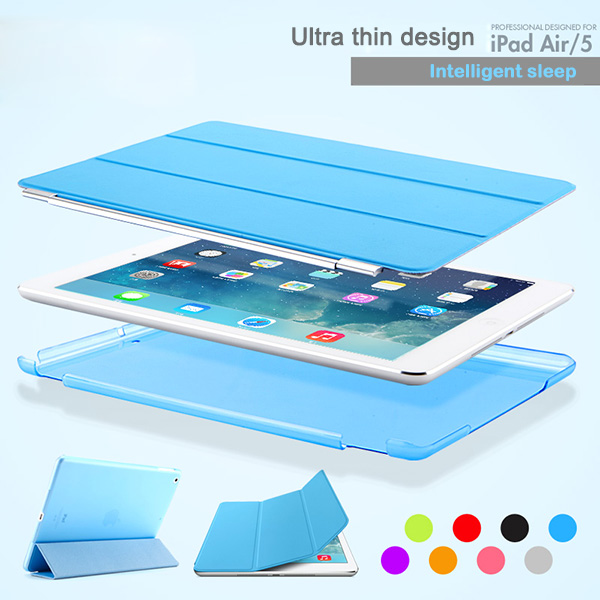New Arrival Wonderful 1:1 Original Smart Case For iPad Air Cover Official Premium Leather Ultra thin Slim Case For Apple iPad 5(China (Mainland))