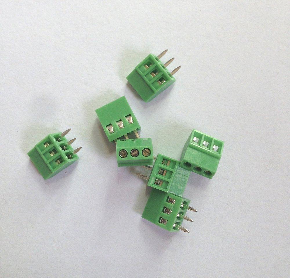 E-SIMPO 50-Pack 3 Poles 2.54mm Pitch, PCB Screw Terminal Block 150V 6A, CE Rohs ELT128-2.54-3P,! - E-Simpo Electronics Co., Ltd. store