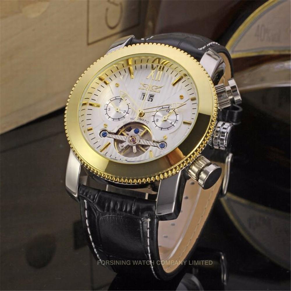 Новый Дизайн JARGAR Бренд Часы Мужские Лучший Подарок Турбийон Автоматические Механические Часы Многофункциональный Дисплей Циферблат Montre Homme