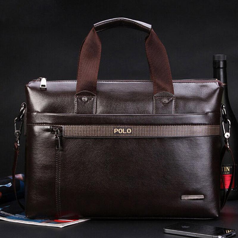 2015 Men Casual Briefcase Business Shoulder Genuine Leather Bag Men Messenger Bags Computer Laptop Handbag Bag Men's Travel Bags(China (Mainland))