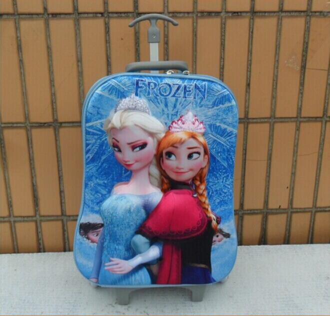 Free shipping Anna Elsa luggage Trolley Case ABS Spinner kids Casual travel suitcase 17 Inch(China (Mainland))