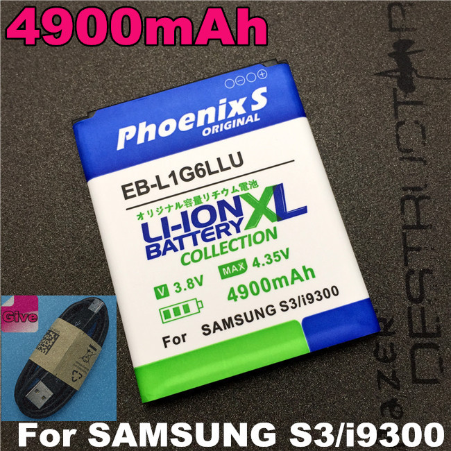 2016 Newest 4600mAh EB-L1G6LLU High Capacity Battery for Samsung Galaxy S3 i9300 battery I9308 i9082 i9128v etc free shpping