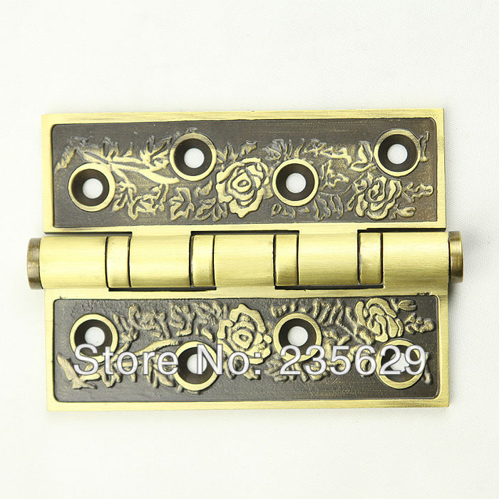 Free Shipping, brass Hinges for timber door / Metal Door, 3mm thickness, Low Noise,dark anti-copper Color(China (Mainland))