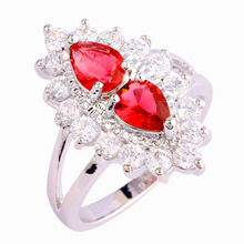 New Women Rings Retro Baroque Red Ruby Spinel 925 Silver Ring Size 6 7 8 9 10 Jewelry Gift Wholesale Free Shipping