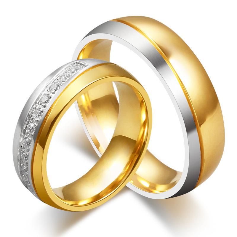 : Acheter Mode CZ diamant anneaux de mariage pour hommes et femmes de ...