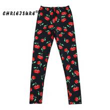 Buy Chrleisure S-XL High Cherry Leggings Women High Waist Elasticity Pants Workout Fitness Leggins 3D Print Leggings for $6.99 in AliExpress store