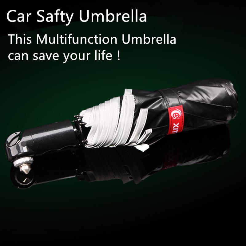 Гаджет  Fashion Car Safety Umbrella Escape Safety Hammer Escape Tool Bong Stretch Folding Man Woman Umbrellas High-grade Vinyl Fabric  None Безопасность и защита